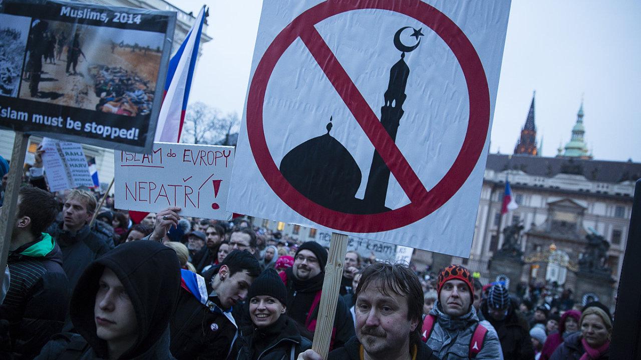 Demonstrace Islám v ČR nechceme