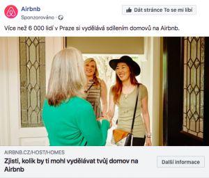 Reklama Airbnb.