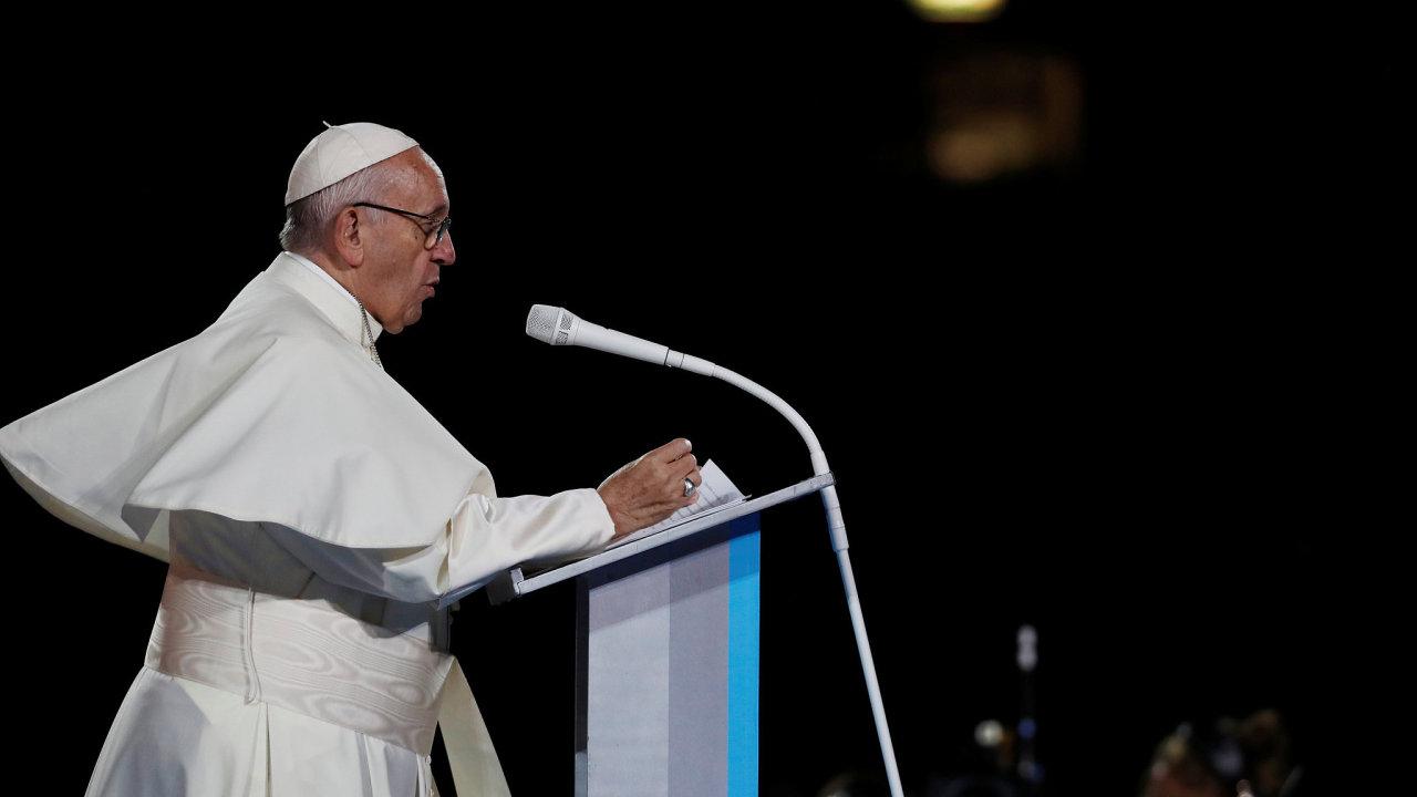 Papež František na návštěvě Irska.