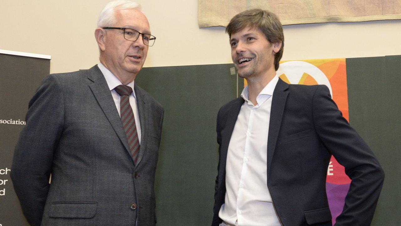 Jiří Drahoš a Marek Hilšer.
