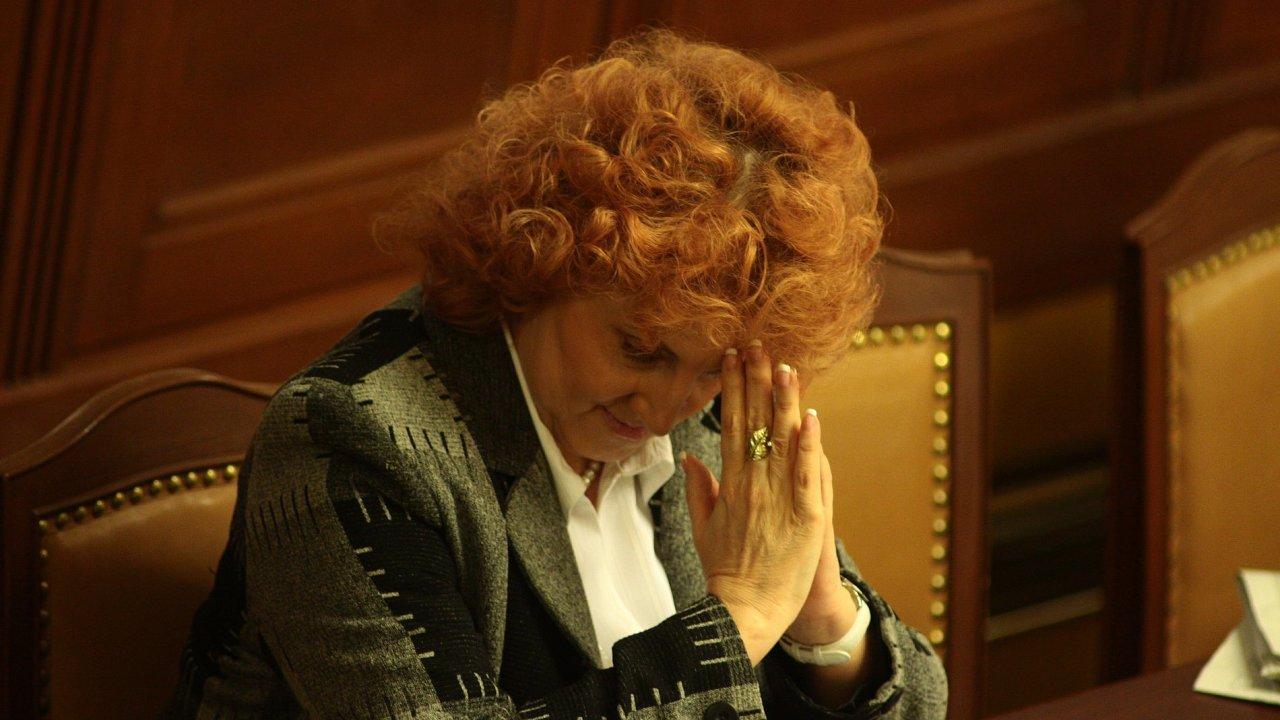 poslankyně TOP 09 a bývalá ministryně obrany Vlasta Parkanová