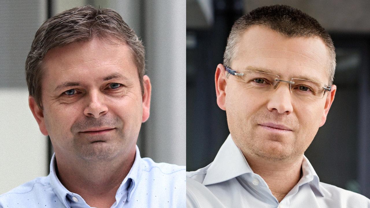 Ivan Mikula, ředitel Televize Seznam. Jakub Unger, ředitel Seznam Zprávy a rádií Expres FM a Classic Praha