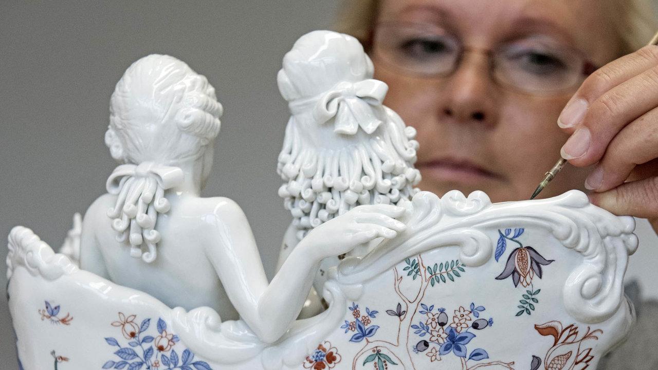 Porcelánové skvosty: Zesaské Míšně pochází také honosná dekorativní keramika.