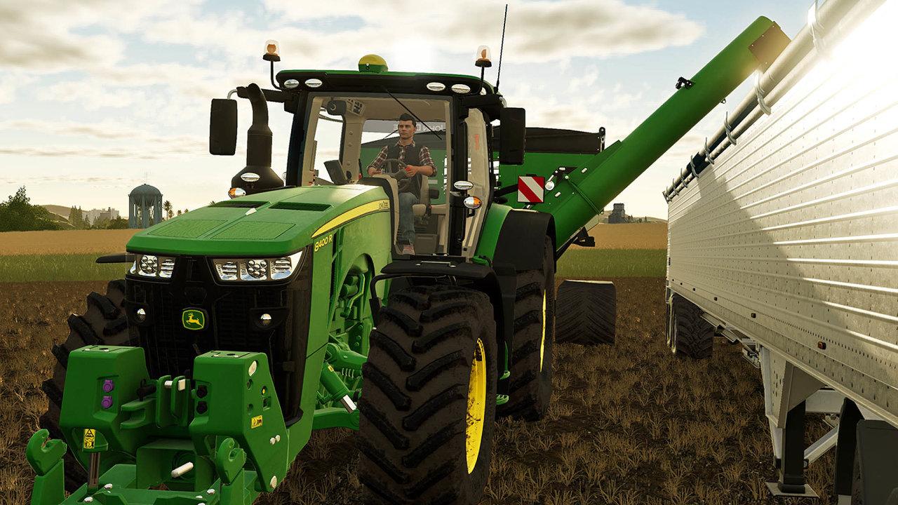 """Vzákladním módu hry Farming Simulator nejde oto vyhrát. Cílem je dobře hospodařit nafarmě. Zemědělskou techniku dohry """"dodávají"""" ifirmy, které ji vreálném světě vyrábějí, například JohnDeere."""