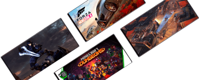 Obrázky z her pro Xbox mají na displeji i telefony Galaxy Note 20 a 20 Ultra na uniklé fotografii