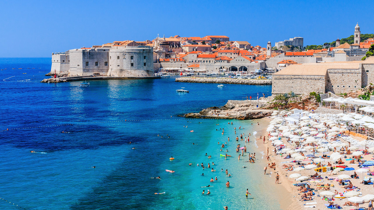 Panoramic view of the Old Town of Dubrovnik