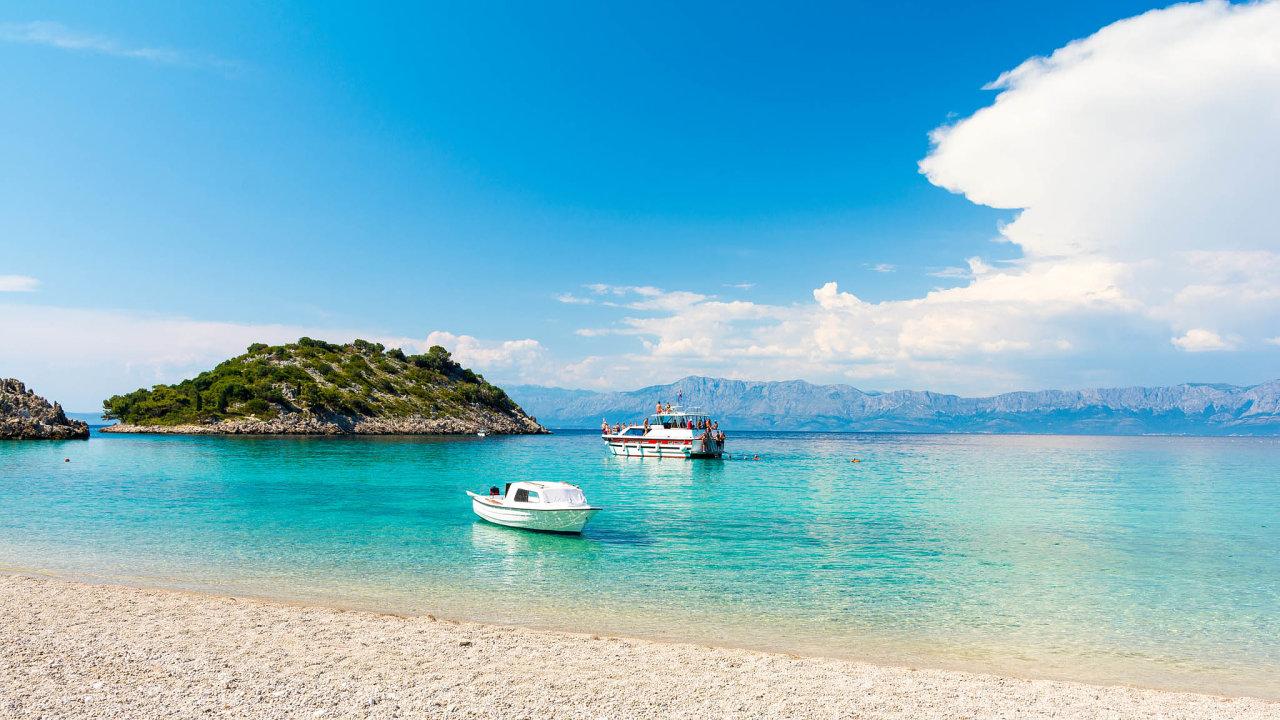 Beautiful sea in south dalamtia near Dubrovnik.