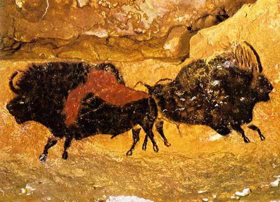 paleolitické kresby ve francouzské jeskyni Lascaux