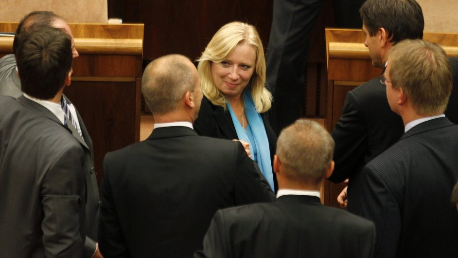 Iveta Radičová po hlasování o eurovalu