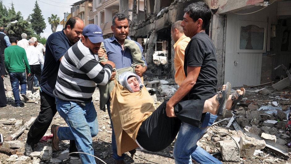 Exploze v Turecku na hranici mezi Sýrií