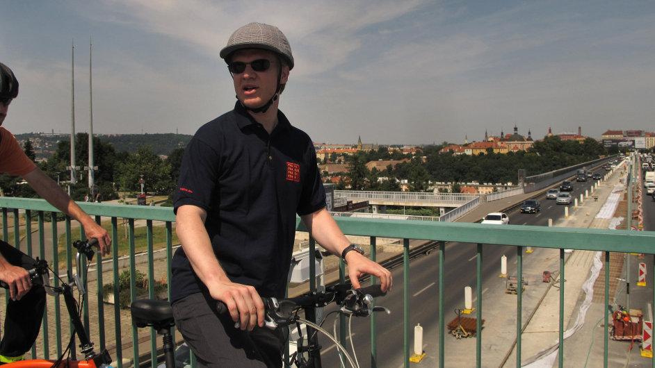 Primátor Prahy Tomáš Hudeček uvažuje o cyklostezce na magistrále mezi Pankrácí a Hlávkovým mostem