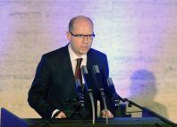 Premiér Bohuslav Sobotka vystoupil s projevem na slavnostním shromáždění k 25. výročí listopadových událostí roku 1989.