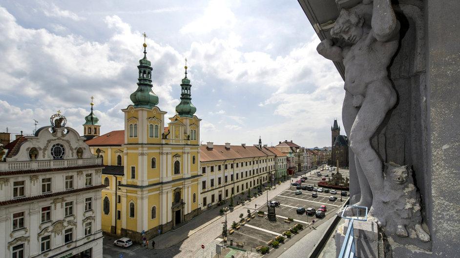 Snímky z rekonstrukce Galerie moderního umění v Hradci Králové
