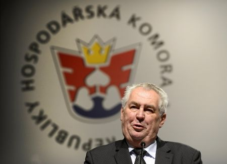 Prezident Miloš Zeman na sněmu Hospodářské komory