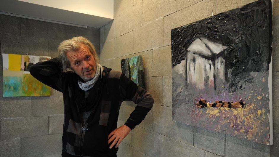 Výstava Jiřího Davida bude v Hříškově otevřená do března 2016.