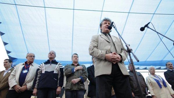 Jiří Dolejš na setkání komunistů 1. máje