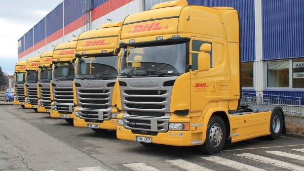 Tahače Scania v barvách DHL budou nejčastěji přepravovat drogerii z Vídně do polské Ratiboře.
