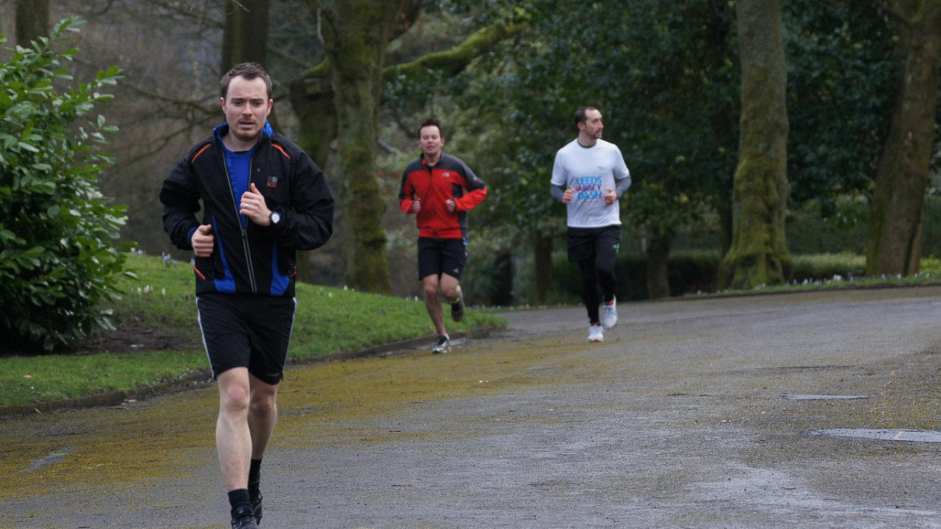 běhání, zima, sport