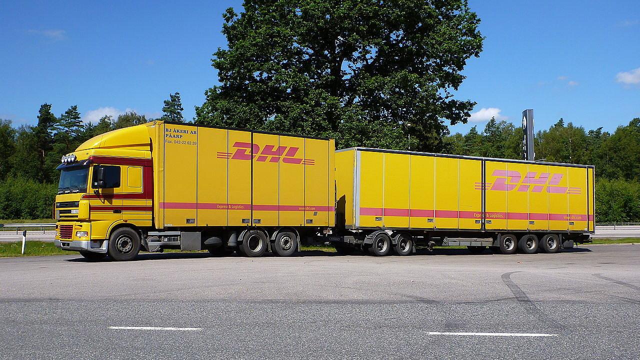 Gigaliner společnosti DHL ve Švédsku
