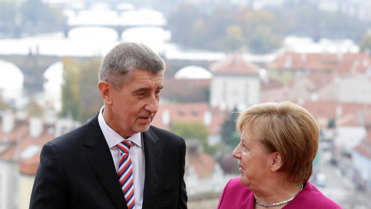 Německá kancléřka Angela Merkelová a český premiér Andrej Babiš.