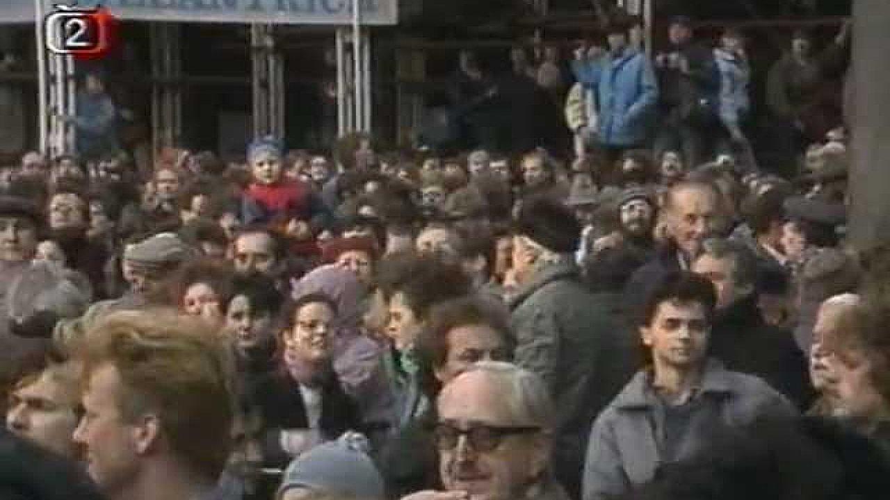 Palachův týden 15. - 21.1.1989 (Náměstí Rudoarmějců / Jana Palacha, Václavské náměstí)