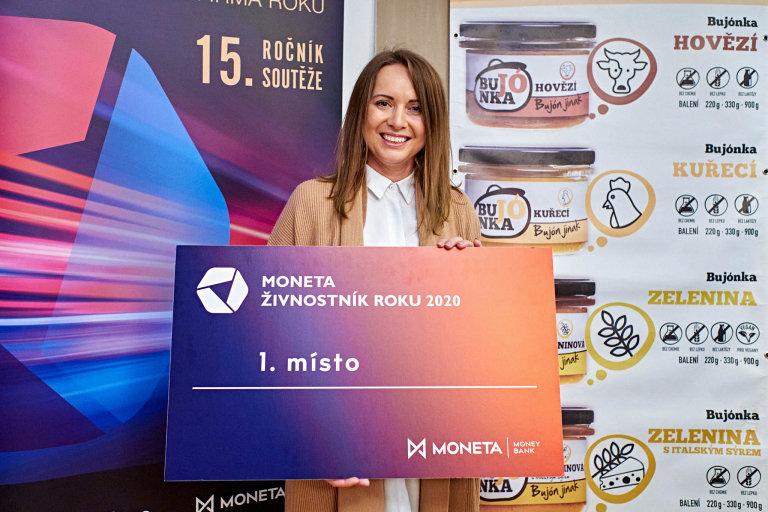 Kateřina Gazdačko, sestra vítězné živnostnice Lenky Vlasákové, MONETA Živnostník roku 2020 Jihomoravského kraje
