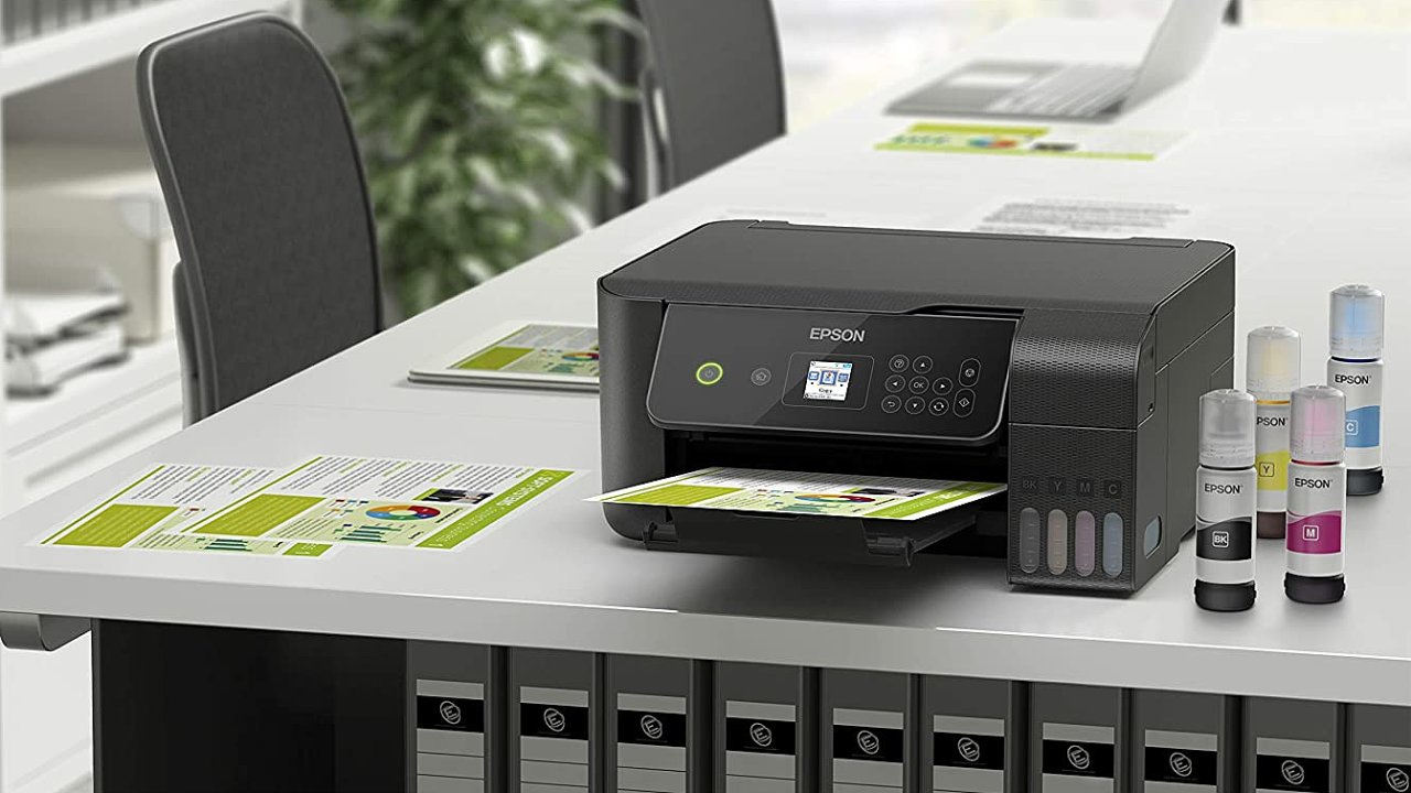 Tiskárna Epson Ecotank L3160 tiskne po vybalení z krabice i tři roky bez doplnění inkoustu.