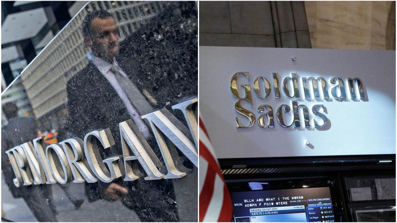 Dva američtí bankovní velikáni: JPMorgan a Goldman Sachs