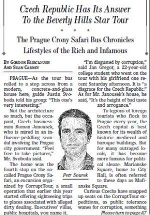 Corrupt Tour na Wall Street Journal