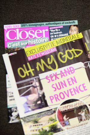 Časopis Closer otiskl snímky polonahé Kate Middletonové