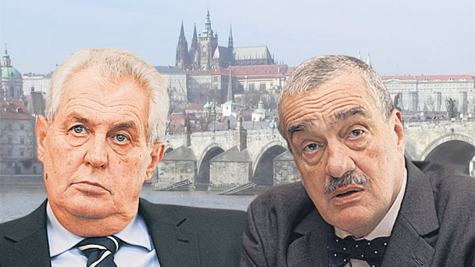 Miloš Zeman a Karel Schwarzenberg - kdo s koho?