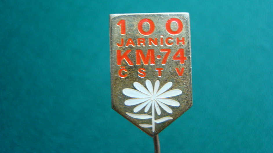 Odznak 100 jarních kilometrů z roku 1974