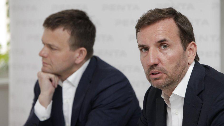 Spoluzakladatelé a akcionáři Penty Jaroslav Haščák (vlevo) a Marek Dospiva
