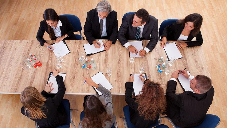Akciová společnost, zasedání představenstva. Ilustrační foto