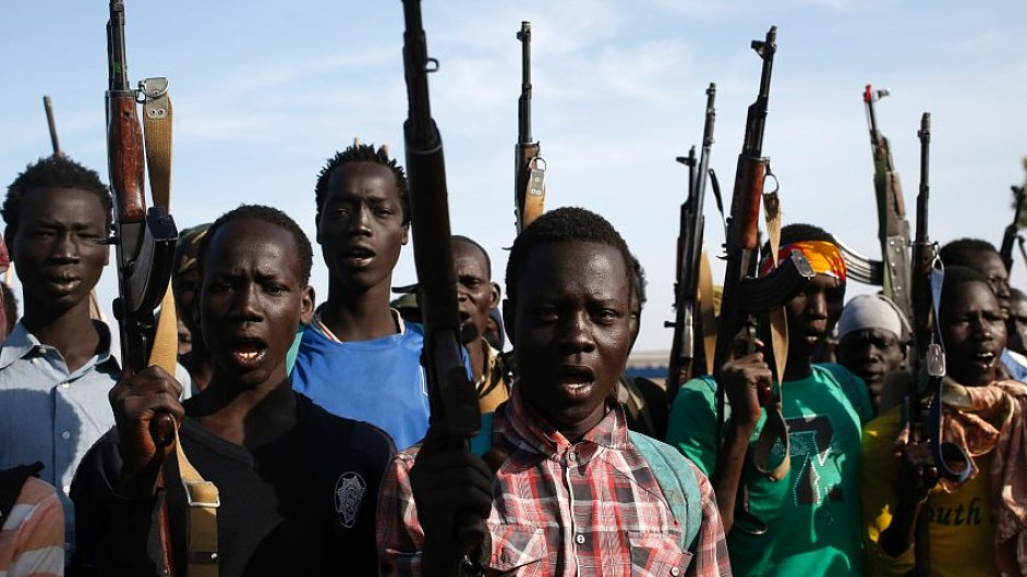 Dětští vojáci nasazovaní do války