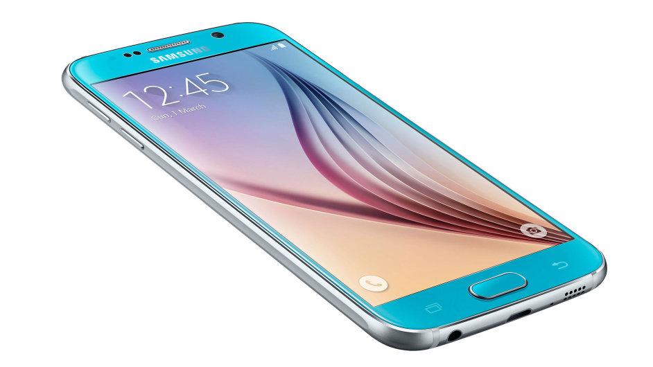 Samsung Galaxy S6, 64 GB, v modré barvě