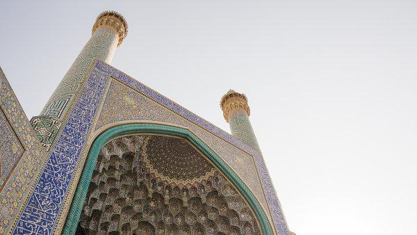 Mešita Shah na náměstí Naghsh-e Jahan v Esfahanu.