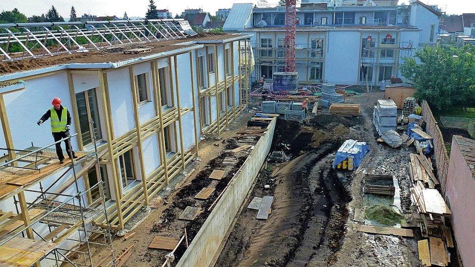 Stavba v Modřici je v plném proudu.