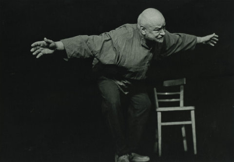 Snímek pochází z představení Cesta do úbic z roku 1979.