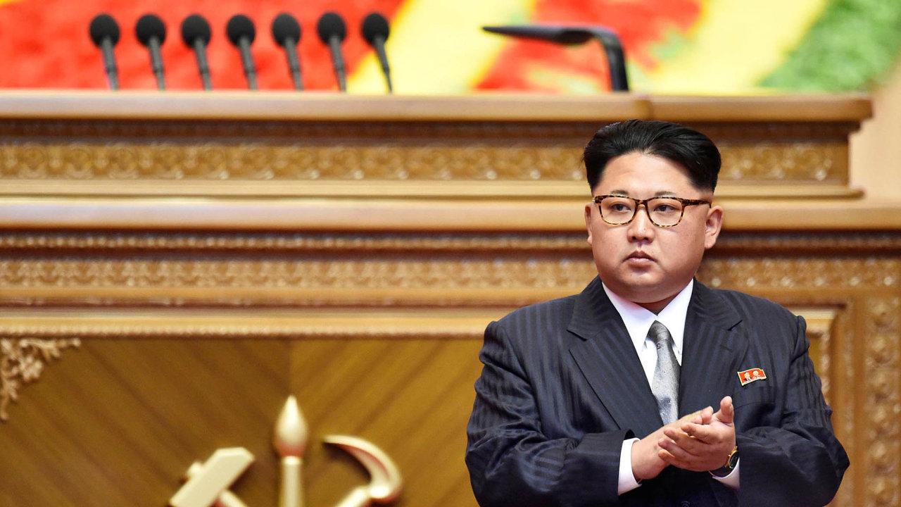 Vůdce Kim Čong-un je v klidu.