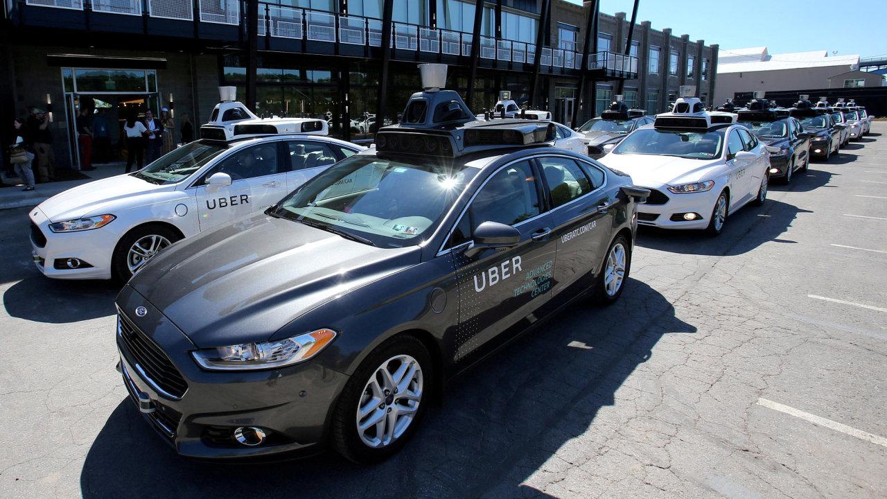 Samořiditelné auto společnosti Uber v Pittsburghu.
