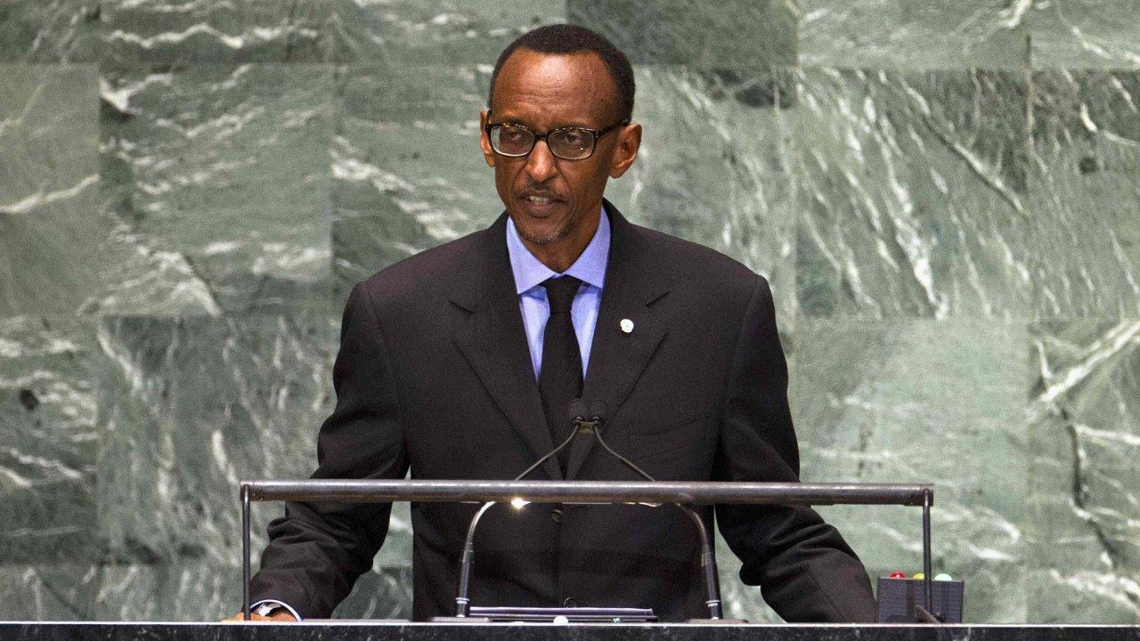 Rwandský prezident Paul Kagame.