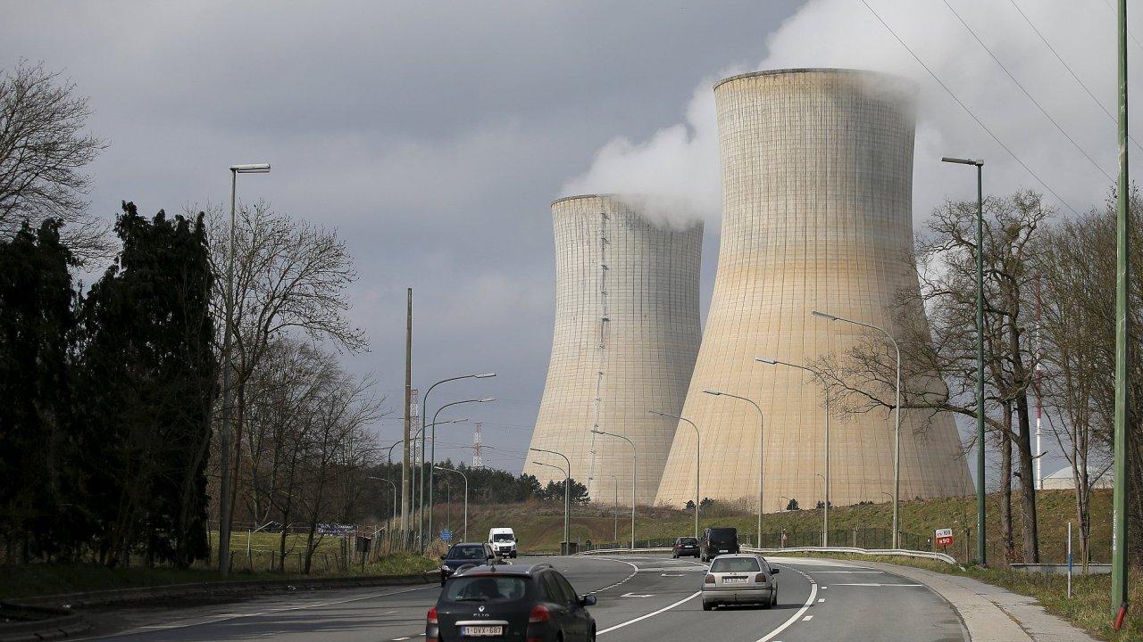 Jaderná elektrárna v Belgii.