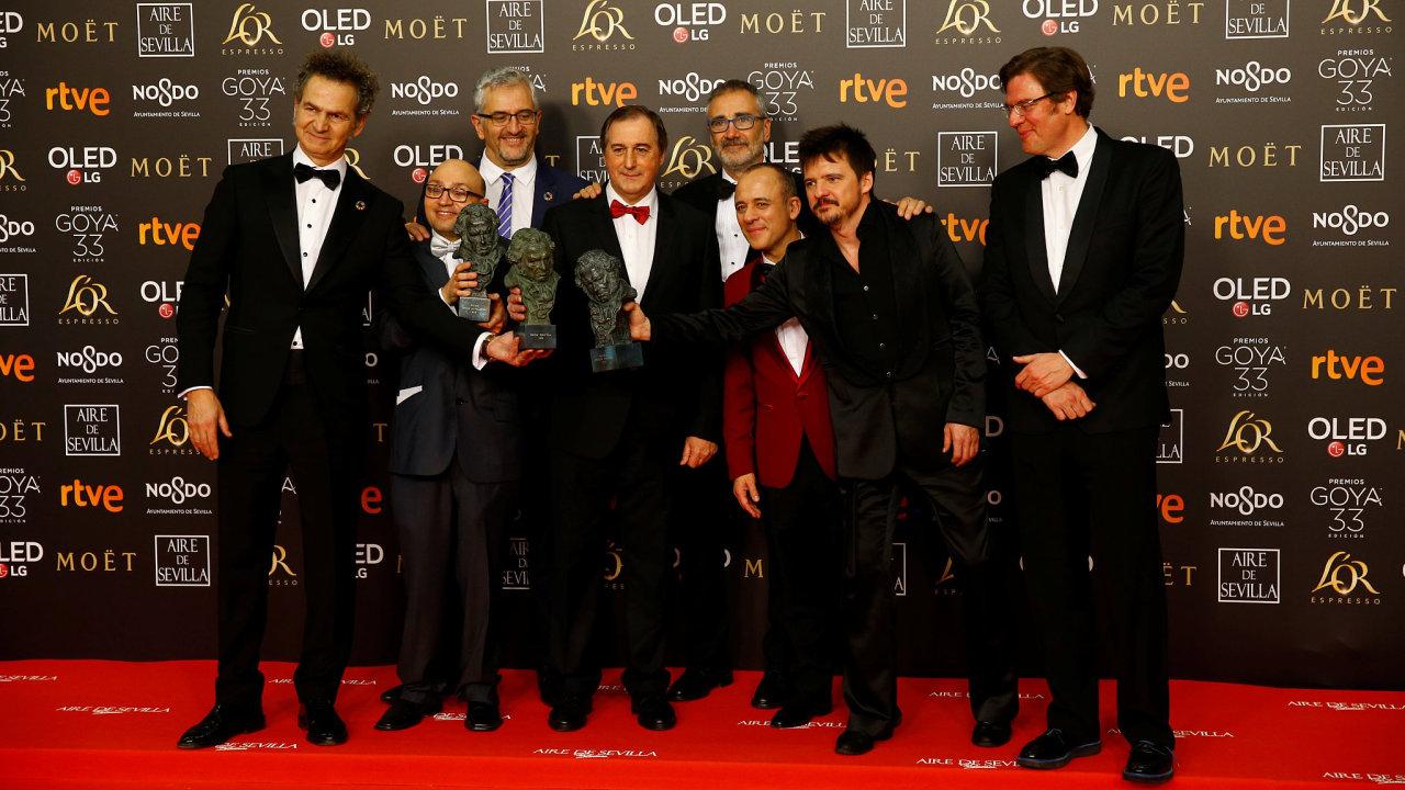 Tvůrci filmu Šampioni, který získal cenu Goya za nejlepší film.