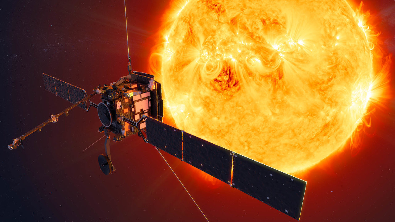 Vědecká sonda Solar Orbiter se přiblíží keSlunci až na42 milionů kilometrů.