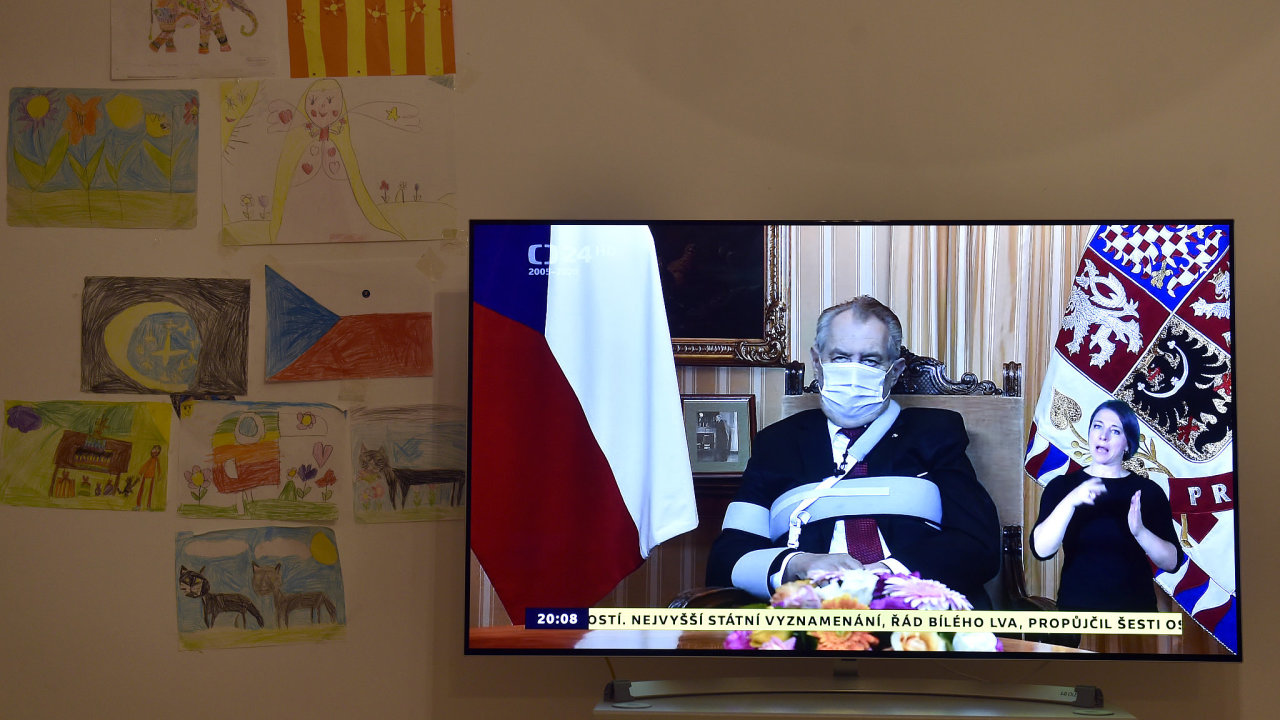 Prezident Miloš Zeman pronesl 28. října 2020 televizní projev u příležitosti státního svátku k výročí vzniku Československa.