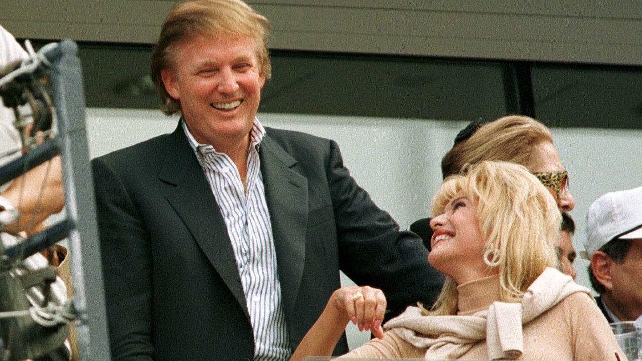 Kreml sledoval Donalda Trumpa už odjeho sňatku sČeškou Ivanou Zelníčkovou (na snímku vpravo).
