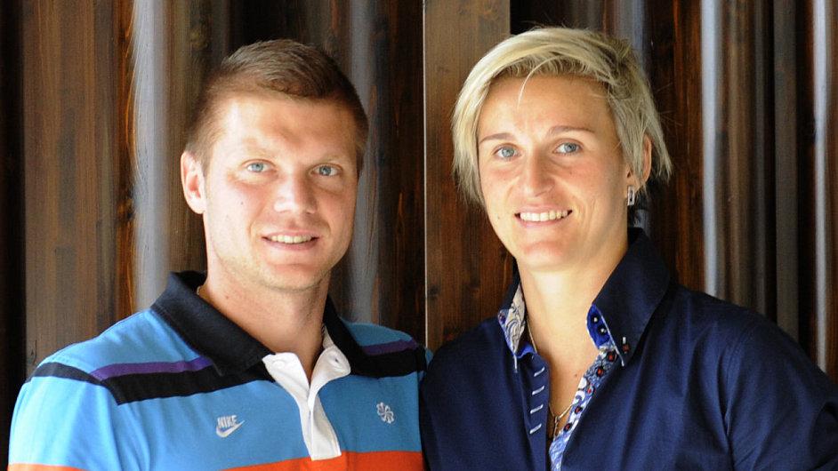 Barbora Špotáková s přítelem Lukášem Novotným.