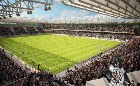 Projekt nového stadionu FC Hradec Králové