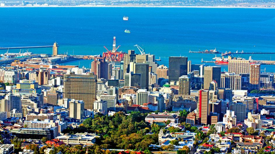 Pohled na Kapské Město.
